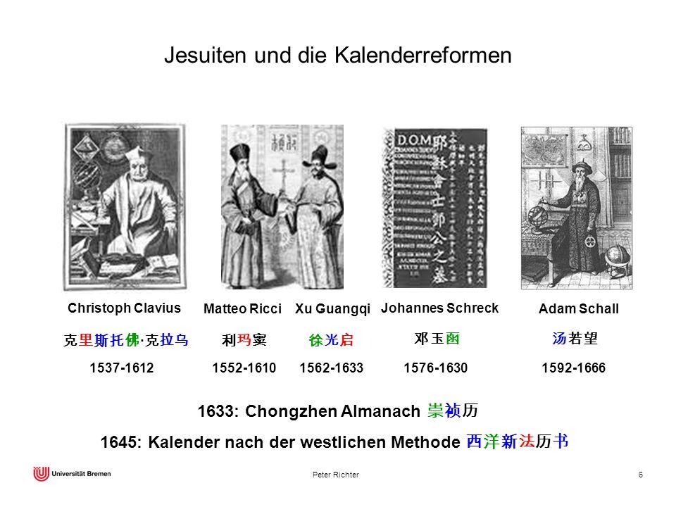 Jesuiten und die Kalenderreformen
