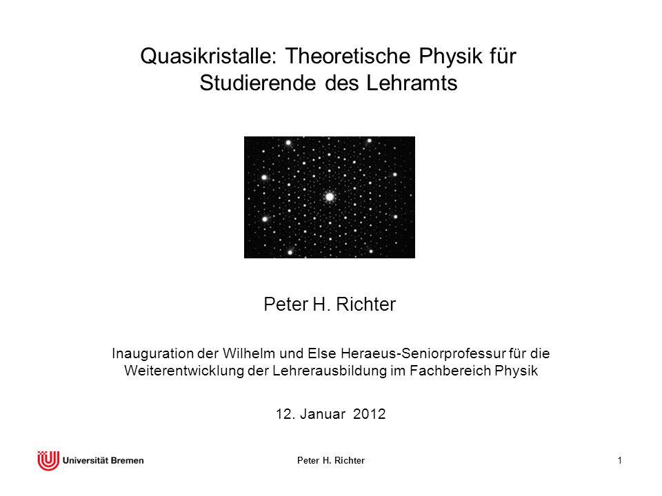 Quasikristalle: Theoretische Physik für Studierende des Lehramts