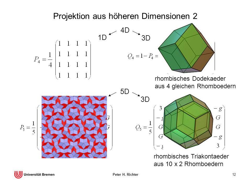 Projektion aus höheren Dimensionen 2