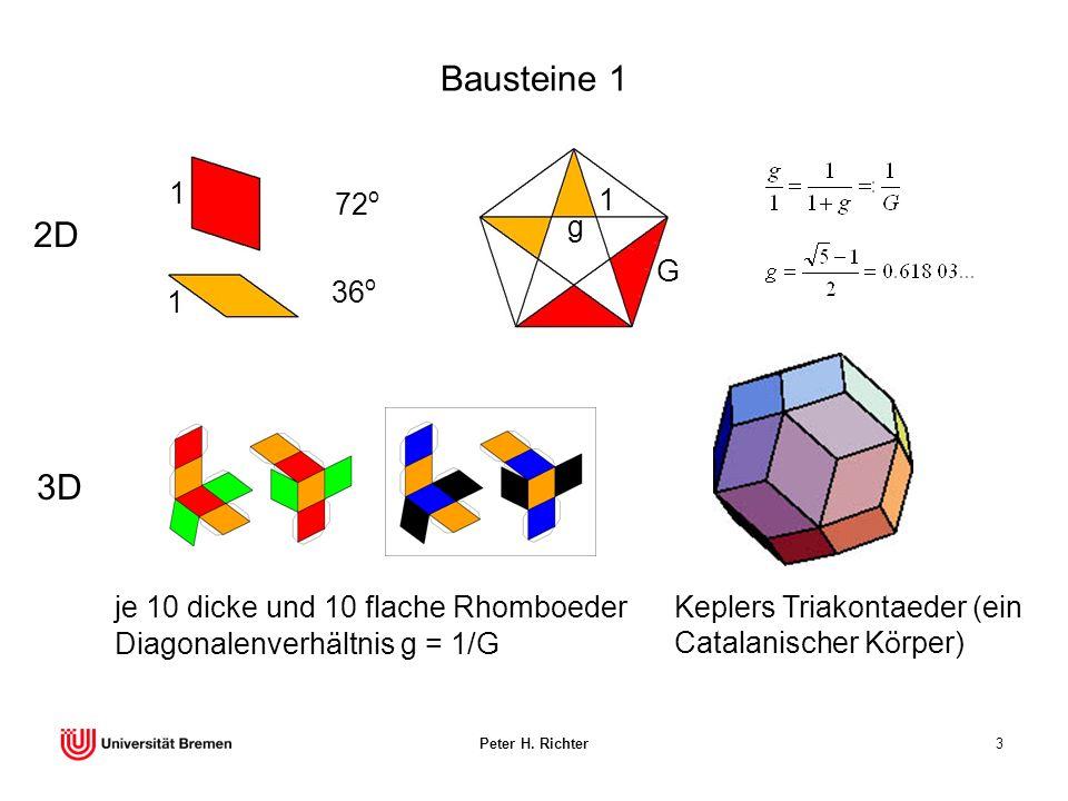 Bausteine 1 1. G. g. 1. 72o. 36o. 2D. Keplers Triakontaeder (ein Catalanischer Körper)
