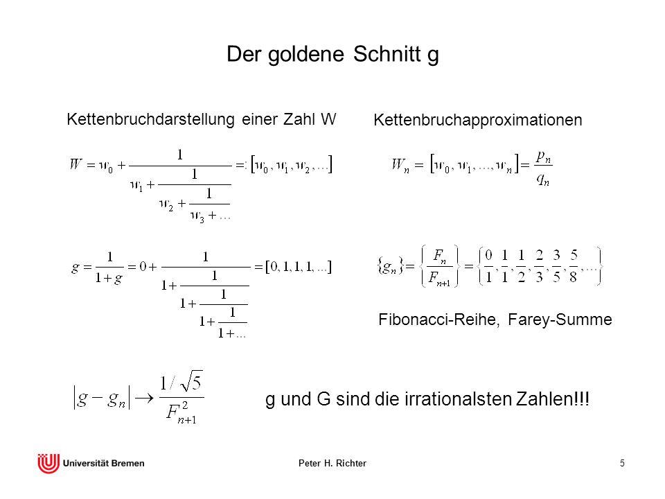 Der goldene Schnitt g g und G sind die irrationalsten Zahlen!!!