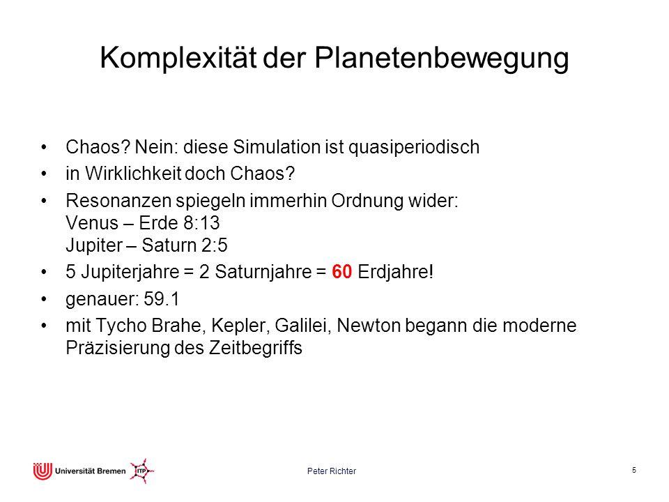 Komplexität der Planetenbewegung