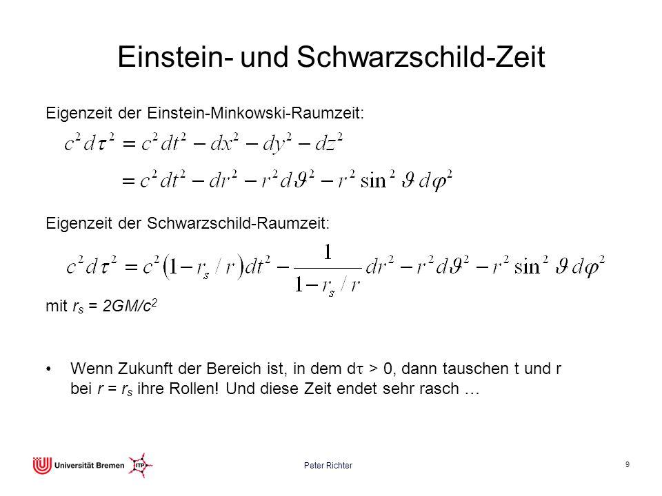 Einstein- und Schwarzschild-Zeit