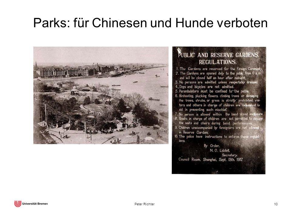 Parks: für Chinesen und Hunde verboten