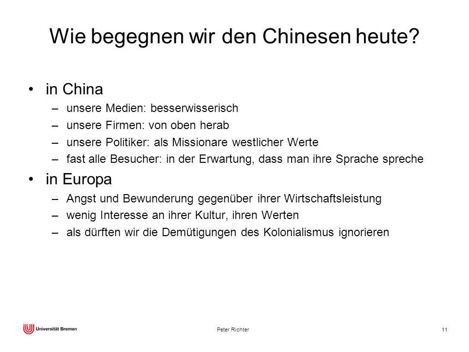 Wie begegnen wir den Chinesen heute