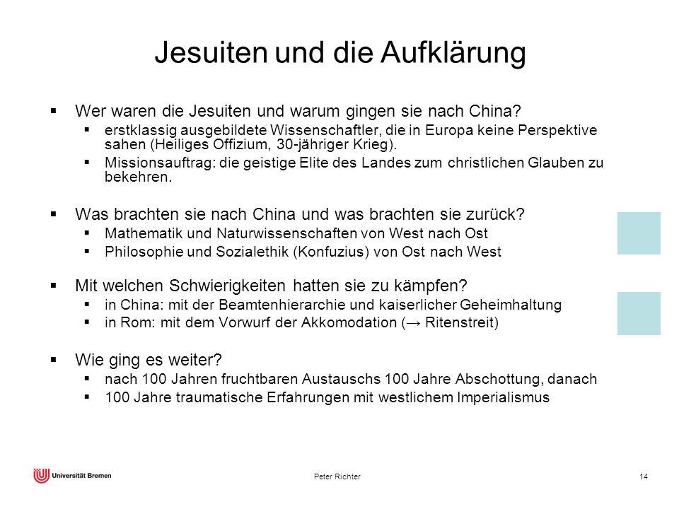Jesuiten und die Aufklärung