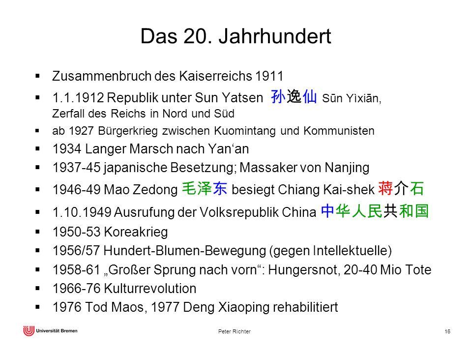 Das 20. Jahrhundert Zusammenbruch des Kaiserreichs 1911