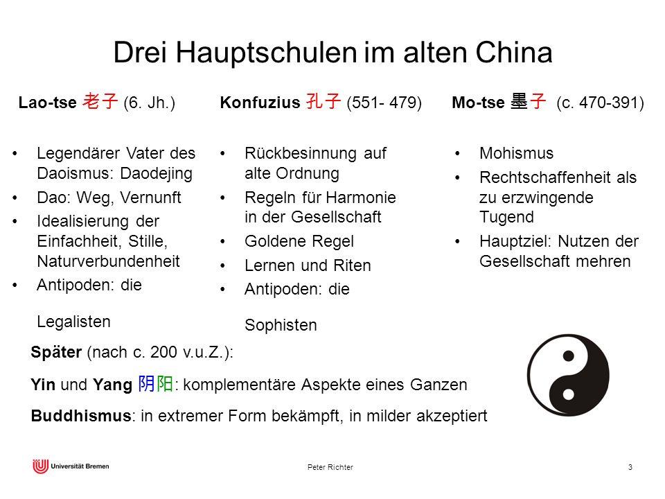 Drei Hauptschulen im alten China