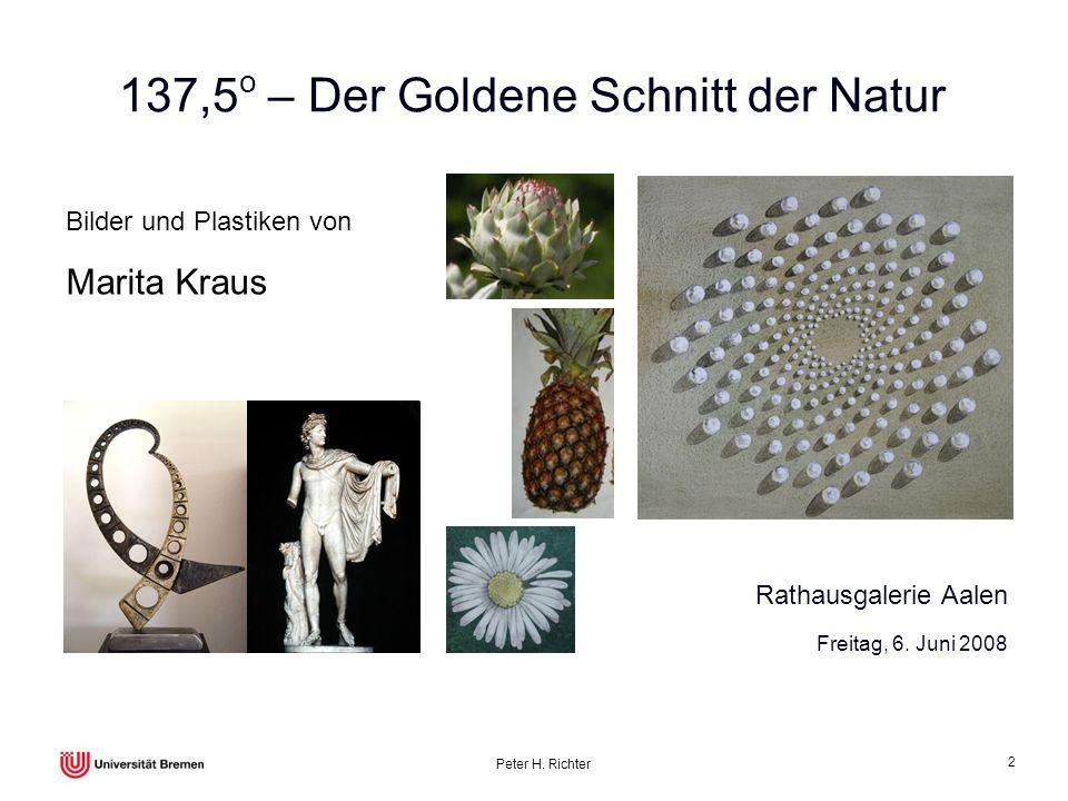 137,5o – Der Goldene Schnitt der Natur