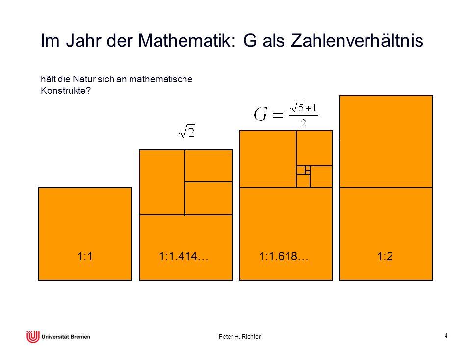 Im Jahr der Mathematik: G als Zahlenverhältnis