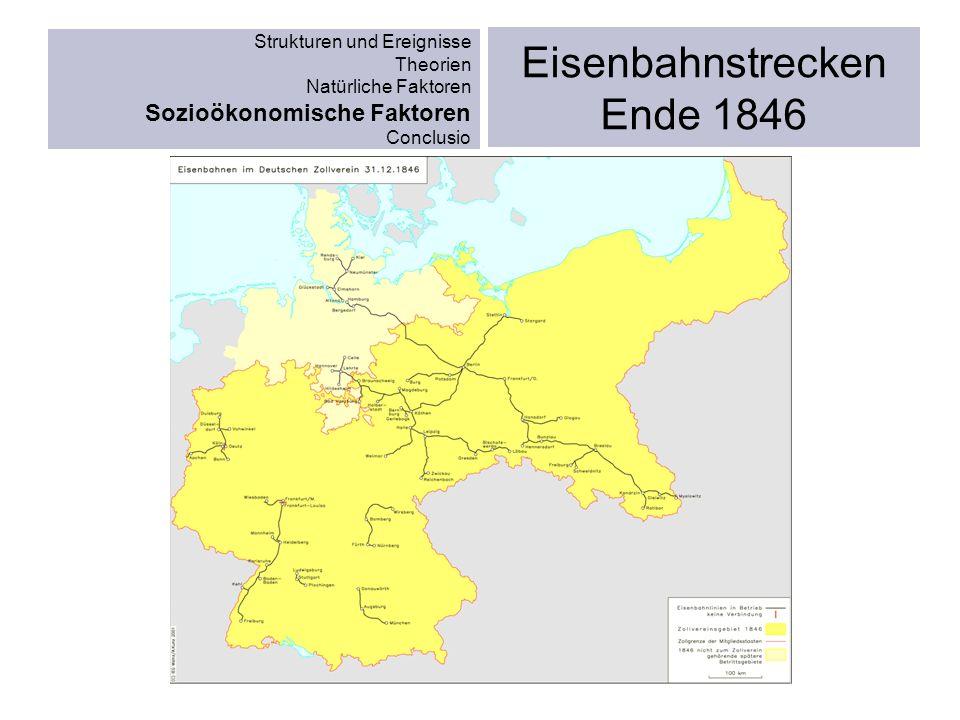 Eisenbahnstrecken Ende 1846