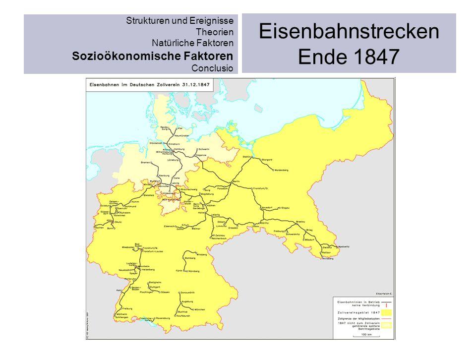 Eisenbahnstrecken Ende 1847