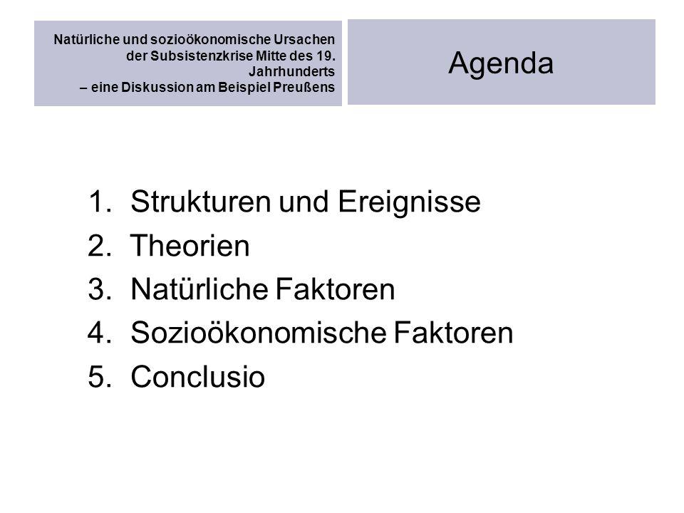 Strukturen und Ereignisse Theorien Natürliche Faktoren
