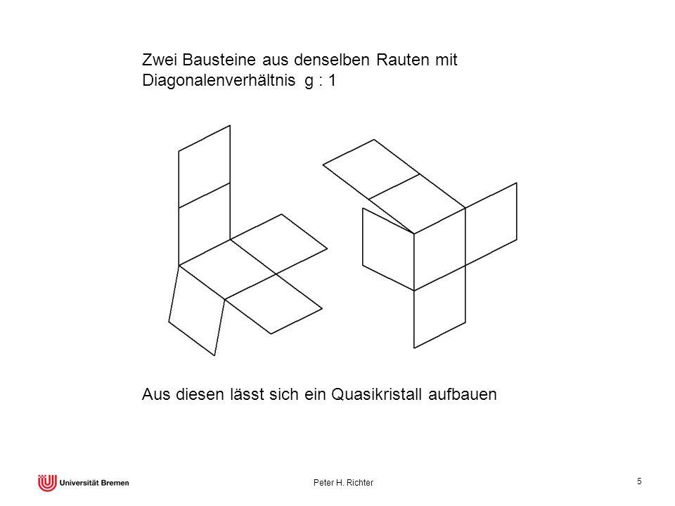 Zwei Bausteine aus denselben Rauten mit Diagonalenverhältnis g : 1