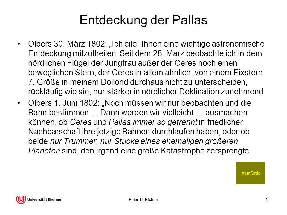 Entdeckung der Pallas