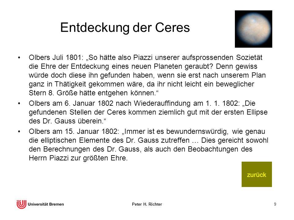 Entdeckung der Ceres