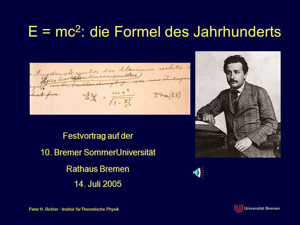 die Formel des Jahrhunderts