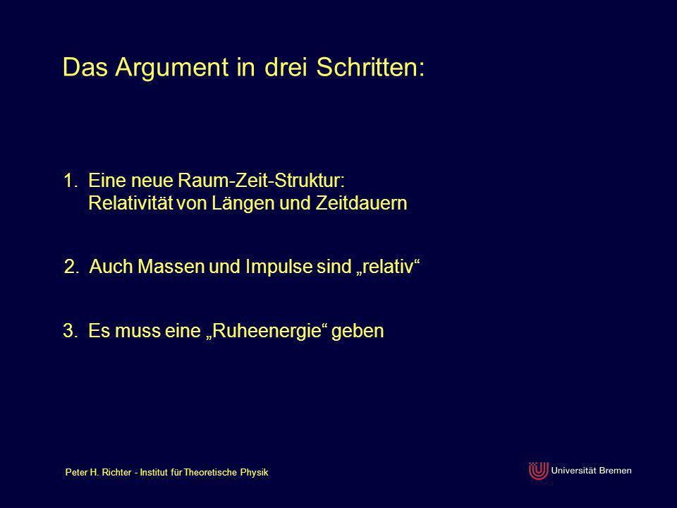 Das Argument in drei Schritten: