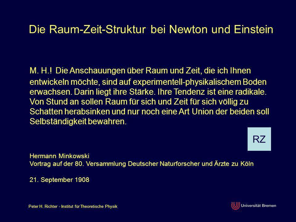 Die Raum-Zeit-Struktur bei Newton und Einstein