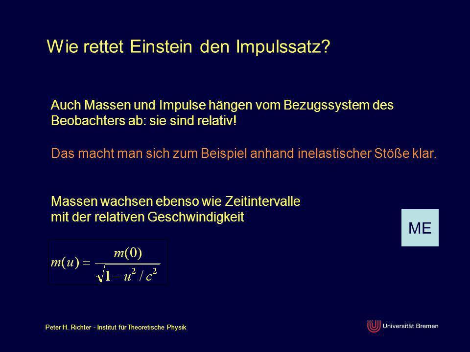 Wie rettet Einstein den Impulssatz
