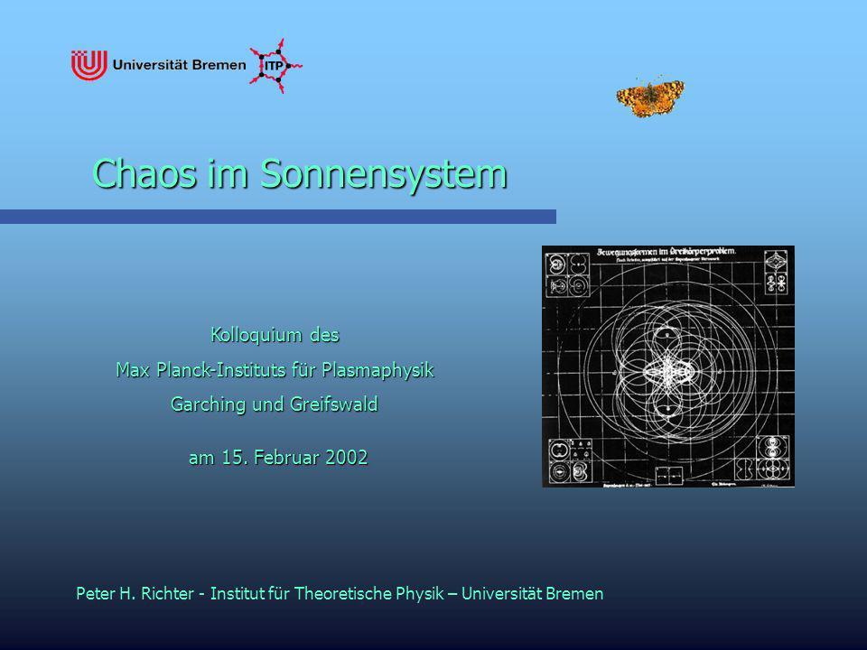 Chaos im Sonnensystem