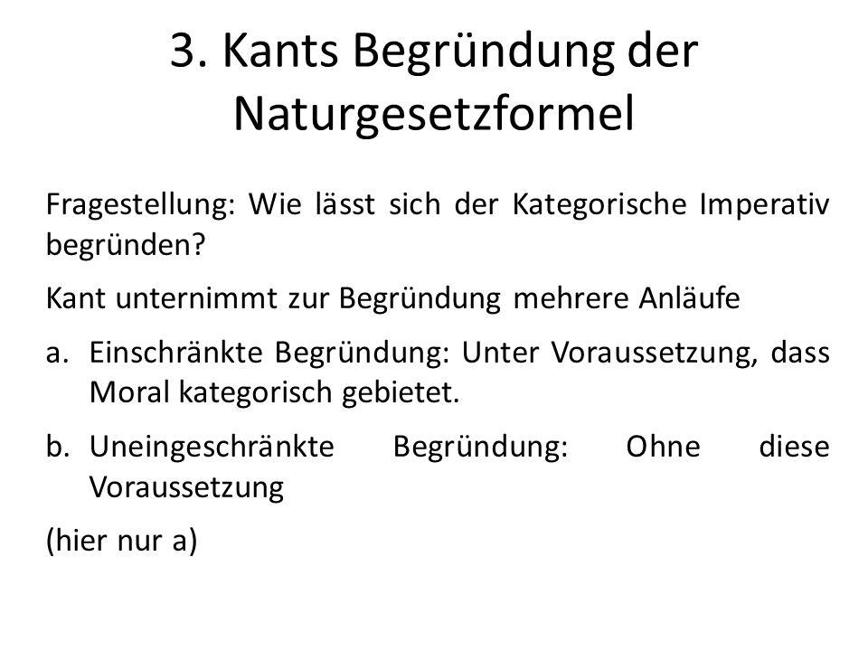 3. Kants Begründung der Naturgesetzformel