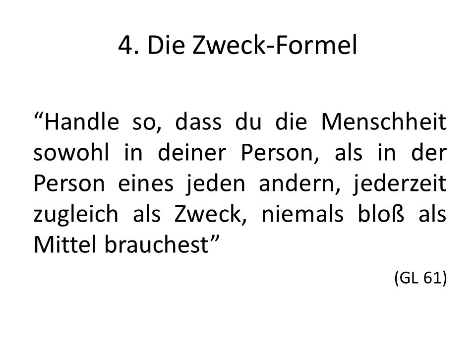 4. Die Zweck-Formel