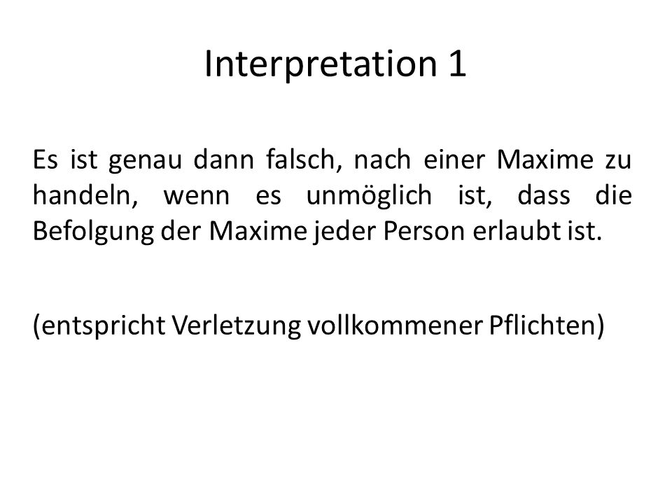 Interpretation 1