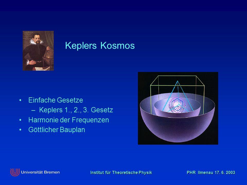 Keplers Kosmos Einfache Gesetze Keplers 1., 2., 3. Gesetz