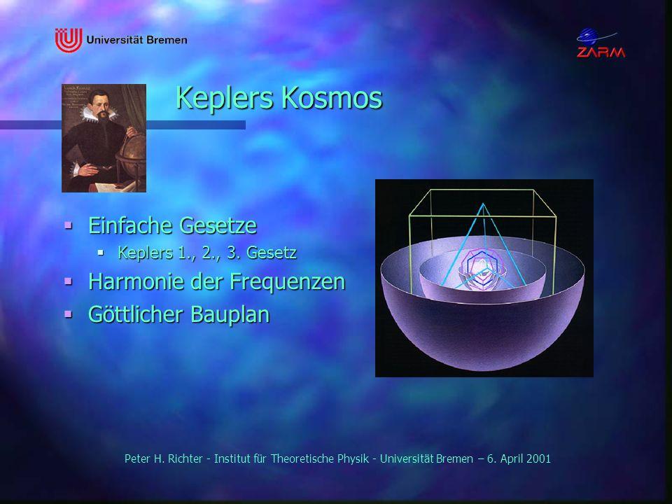Keplers Kosmos Einfache Gesetze Harmonie der Frequenzen