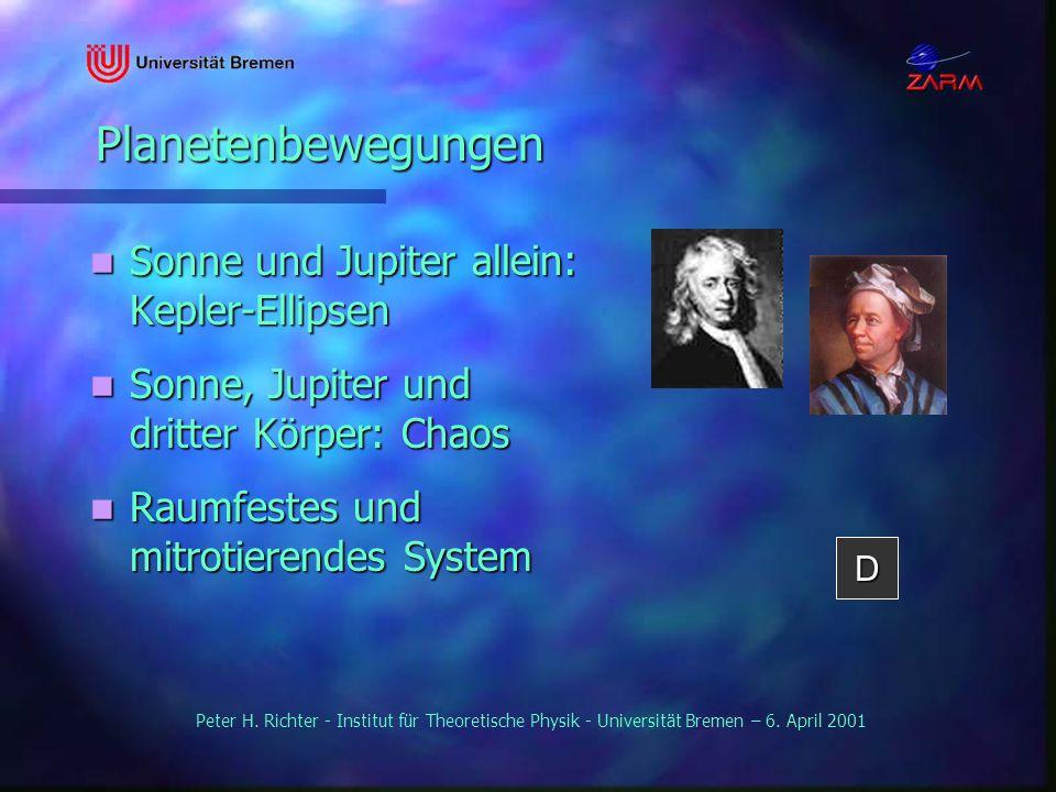 Planetenbewegungen Sonne und Jupiter allein: Kepler-Ellipsen