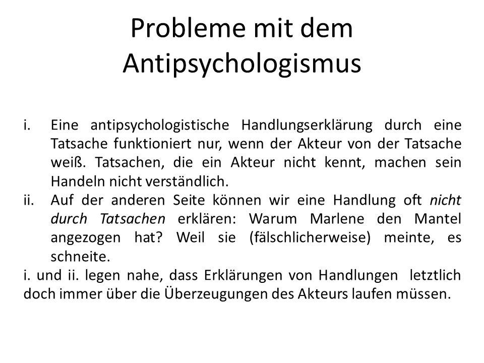 Probleme mit dem Antipsychologismus