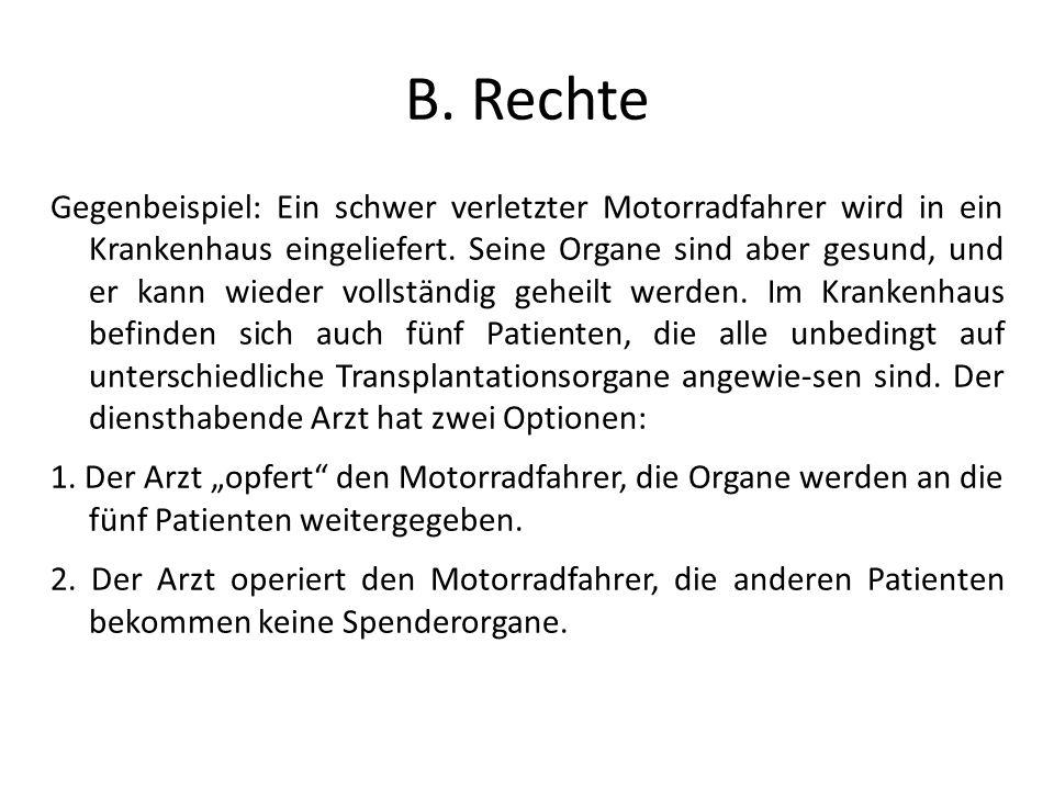 B. Rechte