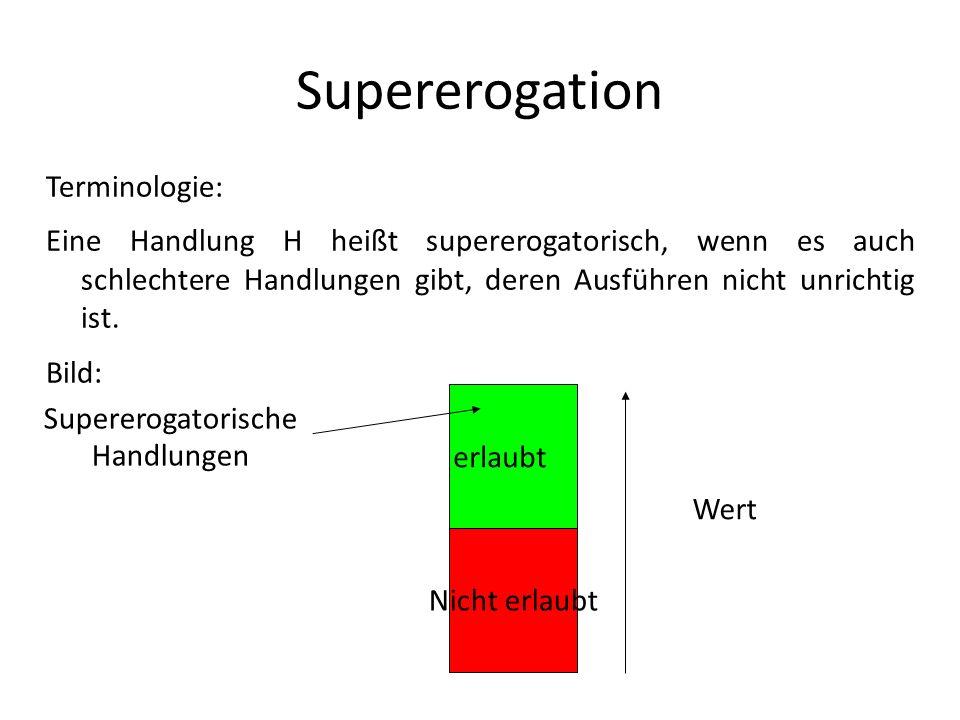 Supererogation Terminologie: