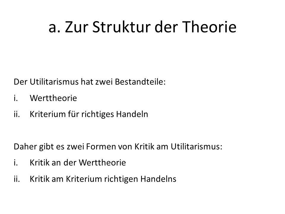 a. Zur Struktur der Theorie