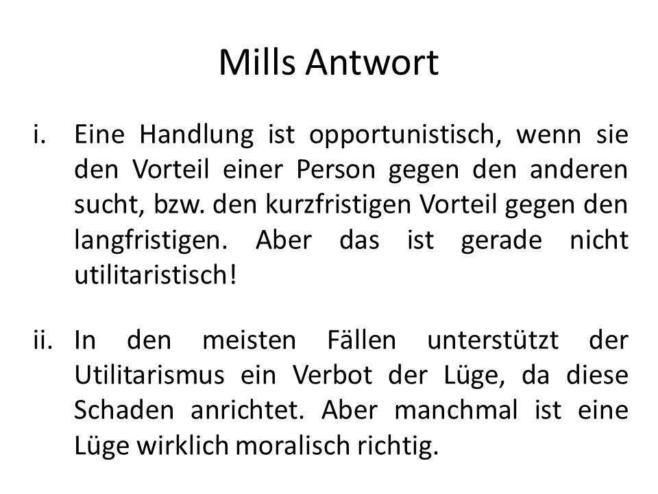 Mills Antwort