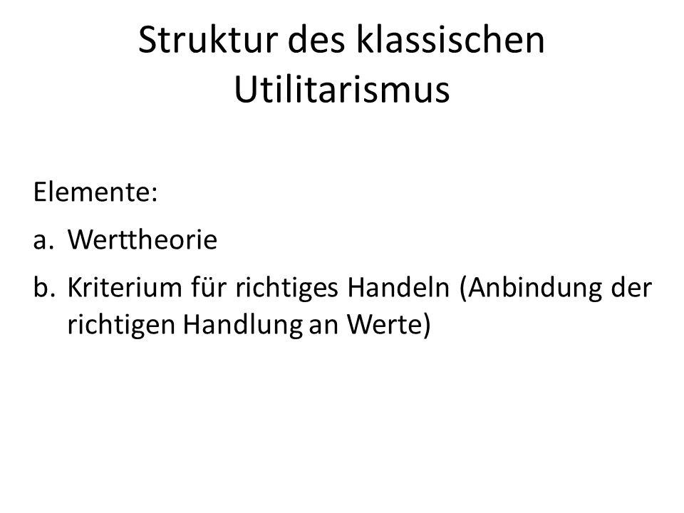 Struktur des klassischen Utilitarismus