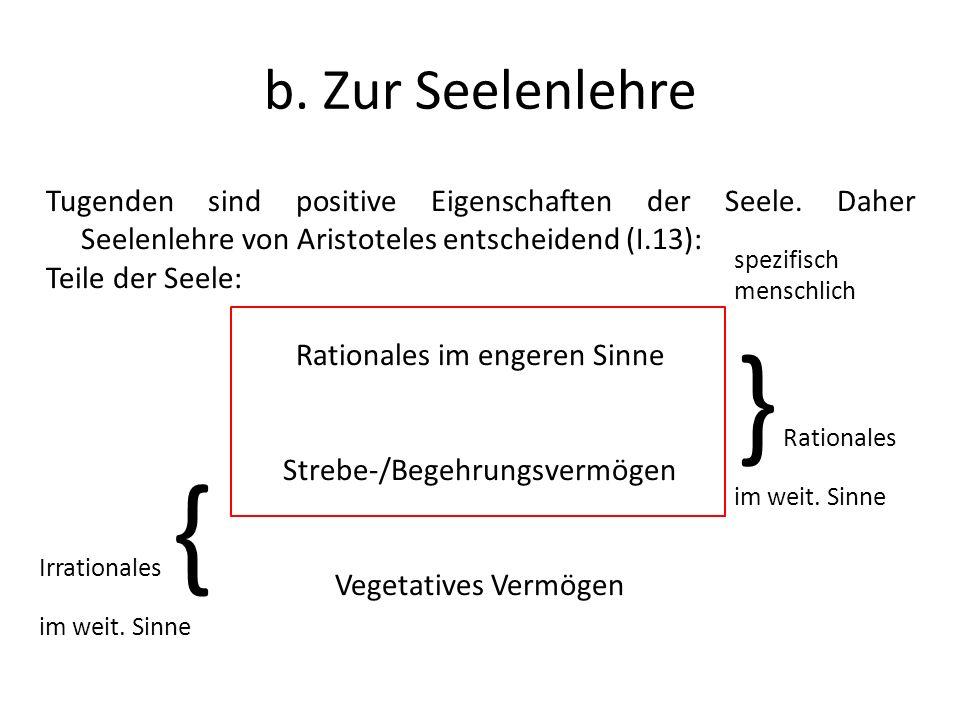 } Rationales b. Zur Seelenlehre