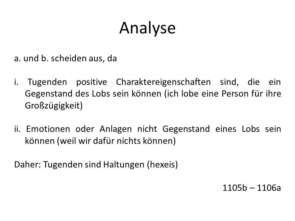 Analyse a. und b. scheiden aus, da