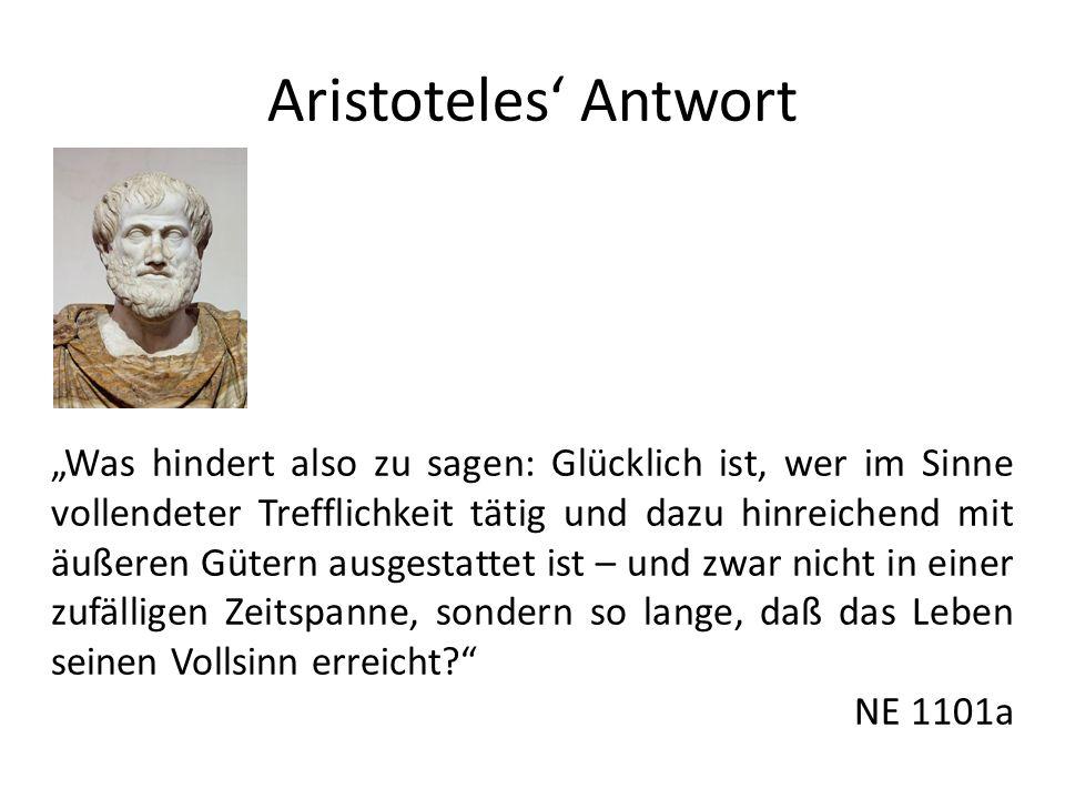 Aristoteles' Antwort