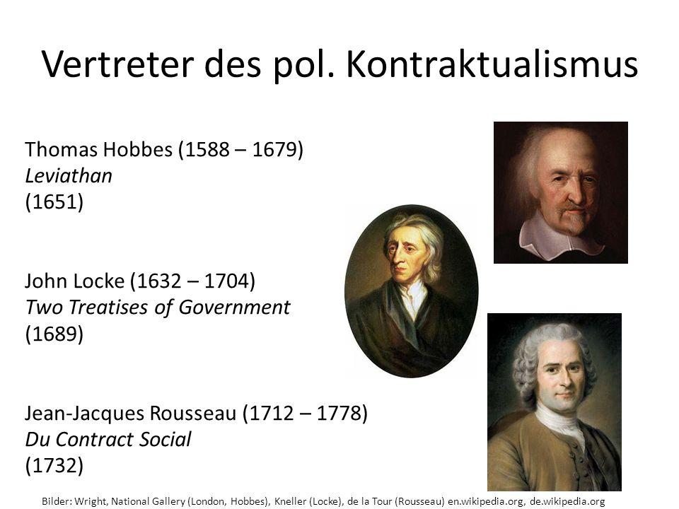 Vertreter des pol. Kontraktualismus