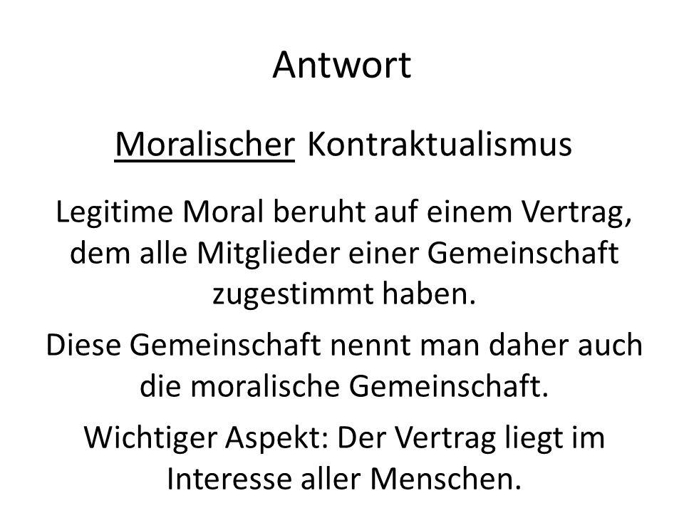 Antwort Moralischer Kontraktualismus