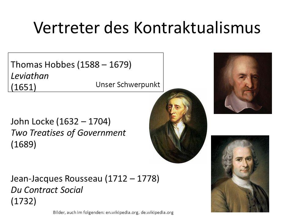 Vertreter des Kontraktualismus