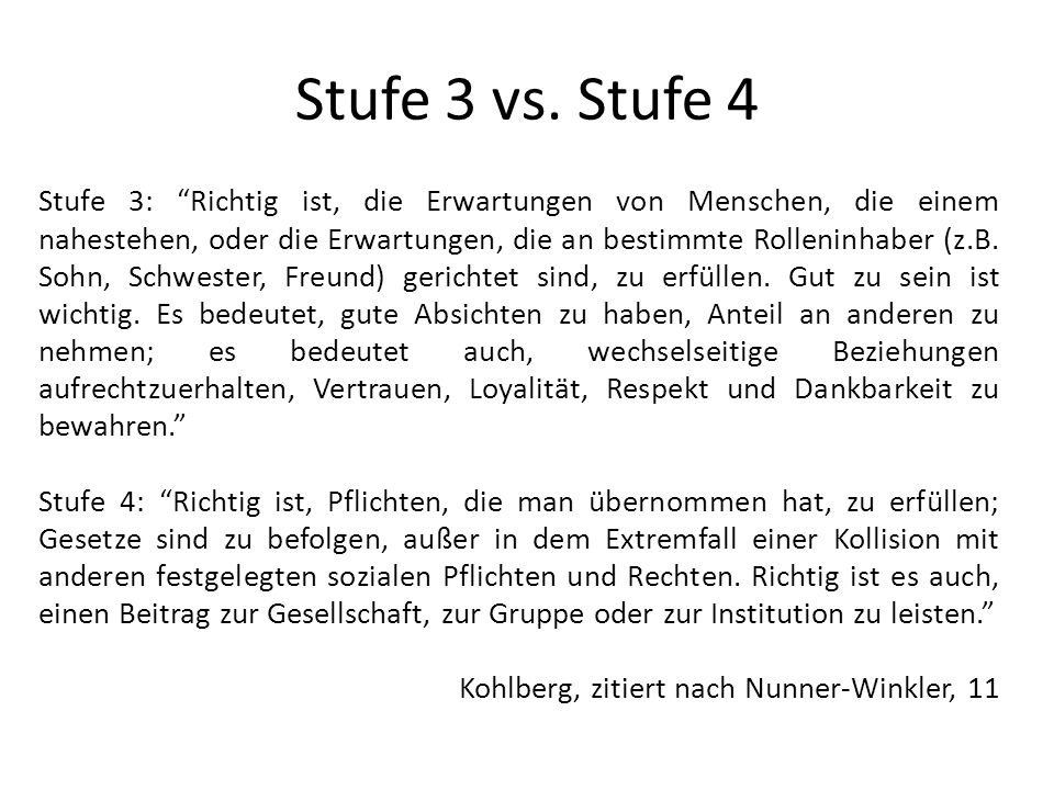 Stufe 3 vs. Stufe 4
