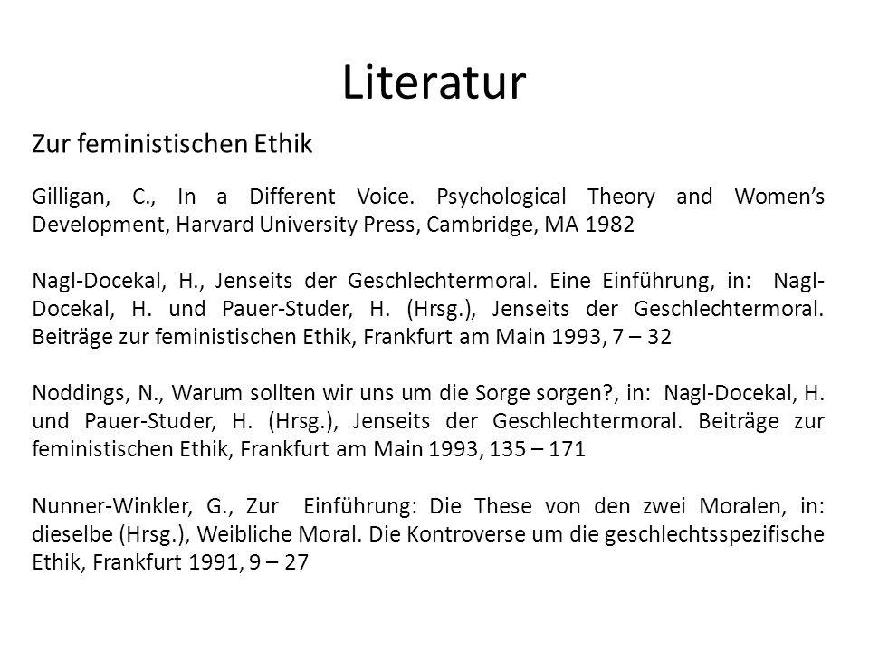 Literatur Zur feministischen Ethik