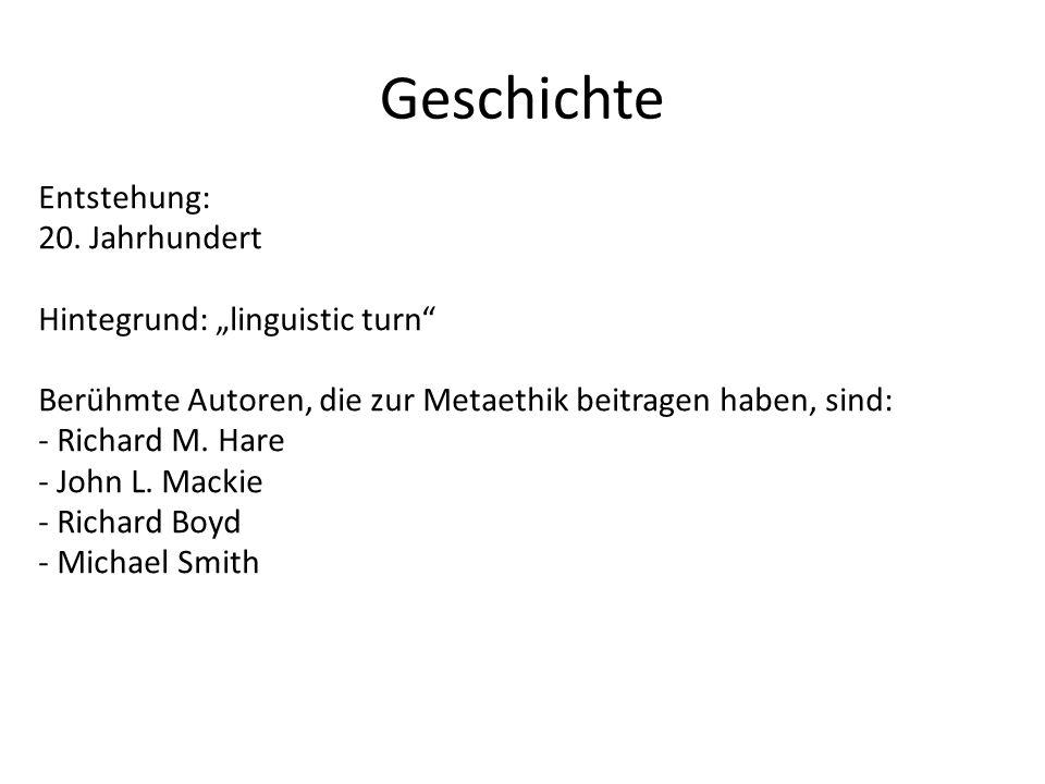 """Geschichte Entstehung: 20. Jahrhundert Hintegrund: """"linguistic turn"""