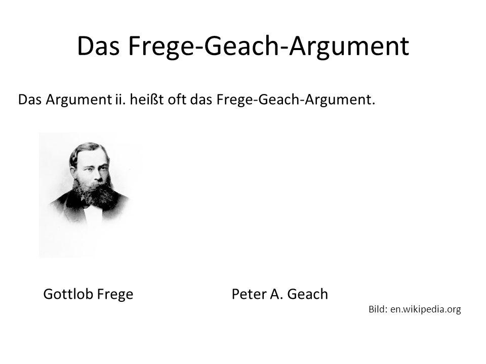 Das Frege-Geach-Argument