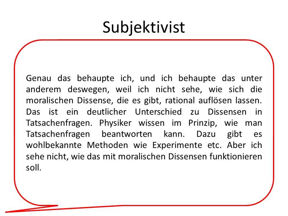 Subjektivist