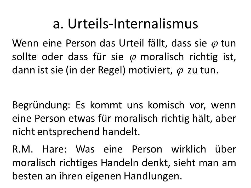 a. Urteils-Internalismus