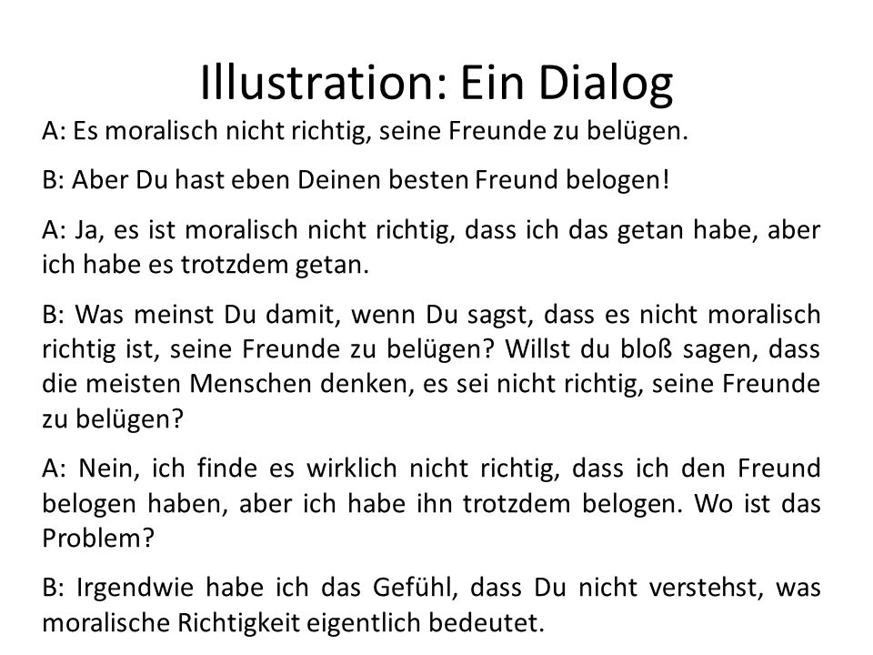 Illustration: Ein Dialog